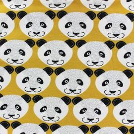 Tissu jogging Poppy Pretty Panda - moutarde x 10cm
