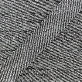 Metallic lamé bias binding - silver x 1m