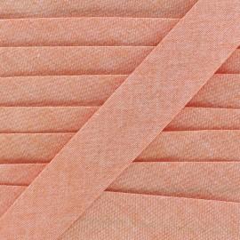 Chambray bias binding - orange x 1m