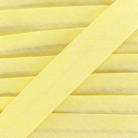 Chambray bias binding - yellow x 1m