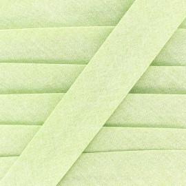 Chambray bias binding - green x 1m