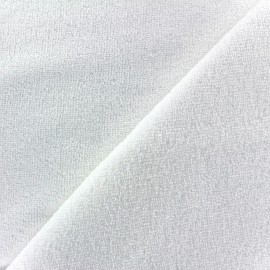 "Polar fabric ""Bébé micro"" – white x 10cm"