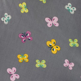 Qjutie Kids Butterfly Fabric - grey x 10cm