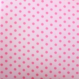 Cotton Fabric pois 6mm - pink/light pink x 10cm