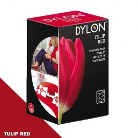 Dylon fabric dye for machine use - Tulip red