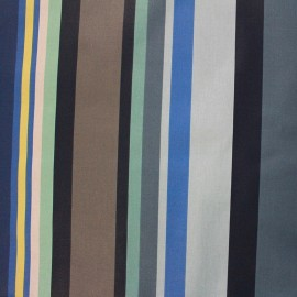 Coated cotton fabric Arnaga - blue x 10cm