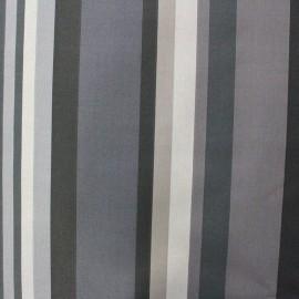 Coated cotton fabric Arnaga - grey x 10cm