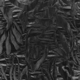 Damask fabric Blossom - black x 10cm