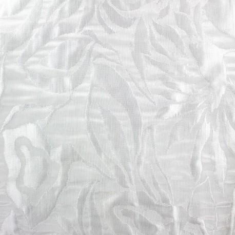 tissu damass blossom blanc x 10cm ma petite mercerie. Black Bedroom Furniture Sets. Home Design Ideas