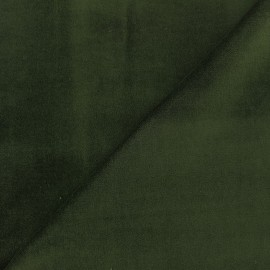 Tissu Velours ras Bradford - kaki x10cm