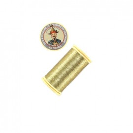 Au Chinois metal polyester thread bobbin - gold