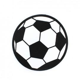 Big Soccer ball iron-on applique 15 cm