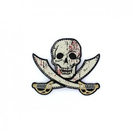 Embroidered pirate Iron on - bloody sabre