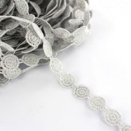 Braid lurex ribbon Spirale - silver x 50cm