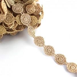 Braid lurex ribbon Spirale - gold x 50cm