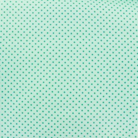 Cotton Fabric pois 2mm - sea/seagreen x 10cm
