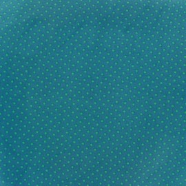 Cotton Fabric pois 2mm - aqua/duck x 10cm
