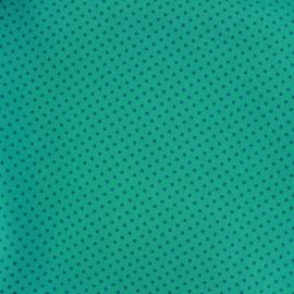 Cotton Fabric pois 2mm - duck/aqua x 10cm