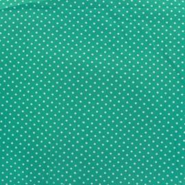 Cotton Fabric pois 2mm - mist/sea x 10cm