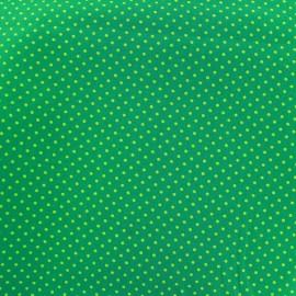 Cotton Fabric pois 2mm - light green/green x 10cm