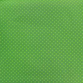 Cotton Fabric pois 2mm - light green/khaki x 10cm