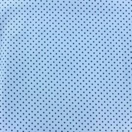 Cotton Fabric pois 2mm - navy/blue x 10cm