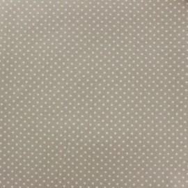 Tissu coton pois 2mm - écru/beige x 10cm