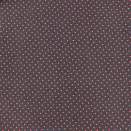 Tissu coton pois 2mm - orange/brun x 10cm