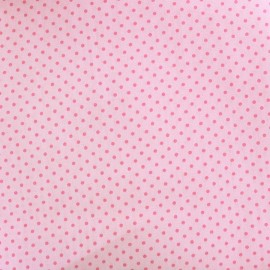 Cotton Fabric pois 2mm - pink/pale pink x 10cm