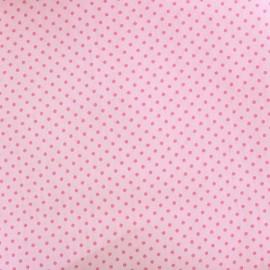 Tissu coton pois 2mm - rose/rose pâle x 10cm