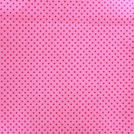 Cotton Fabric pois 2mm - cherry/pink x 10cm