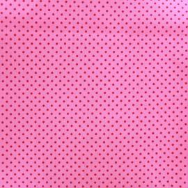 Tissu coton pois 2mm - cerise/rose x 10cm