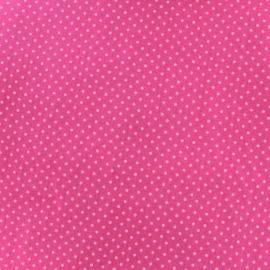 Tissu coton pois 2mm - rose/cerise x 10cm