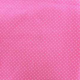 Cotton Fabric pois 2mm - pale pink/pink x 10cm