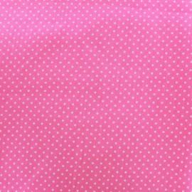 Tissu coton pois 2mm - rose pâle/rose x 10cm