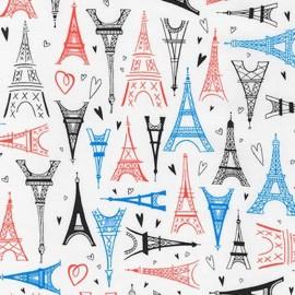 Tissu Paris Adventure Tour Eiffel - multi x 60cm