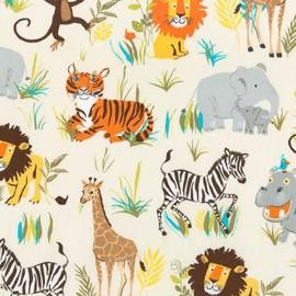 Wild Adventure fabric Savane - nature x 60cm