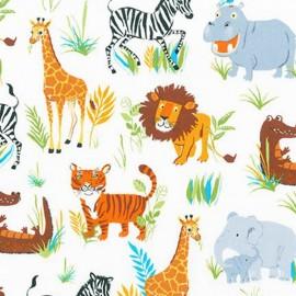 Wild Adventure fabric Savane - white x 60cm