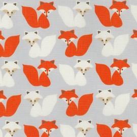 Woodland Pals 2 fabric Fox - grey x 10cm