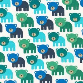 Woodland Pals 2 fabric Bear - adventure x 10cm