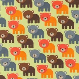 Tissu Woodland Pals 2 Bear - bermuda x 10cm