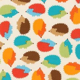 Tissu Woodland Pals 2 Hedgehog - bermuda x 10cm