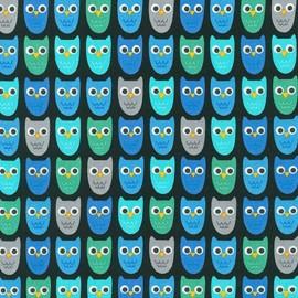 Tissu Woodland Pals 2 Owl - adventure x 10cm