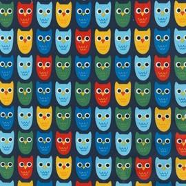 Woodland Pals 2 fabric Owl - primary x 10cm