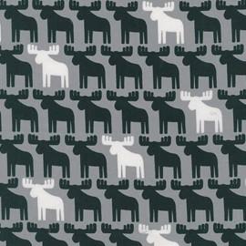 Tissu Woodland Pals 2 Reindeer - grey x 10cm