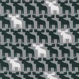 Woodland Pals 2 fabric Reindeer - grey x 10cm