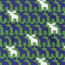 Tissu Woodland Pals 2 Reindeer - green x 10cm