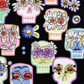Tissu coton Flower Eyes - black x 59cm