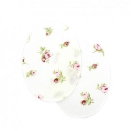Coudières fleurs pivoines - blanc (la paire)