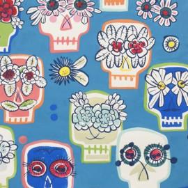 Tissu coton Flower Eyes - blue x 59cm